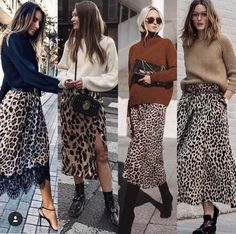 Cool Ways To Style A Leopard Satin Skirt: wearing a white t-shirt, a leopard skirt, nude sandals, a black shoulder bag and black aviator sunglasses. Printed Skirt Outfit, Leopard Skirt Outfit, Leopard Print Skirt, Printed Skirts, Leopard Print Outfits, Midi Skirt Outfit, Animal Print Skirt, Long Black Skirt Outfit, Animal Print Outfits