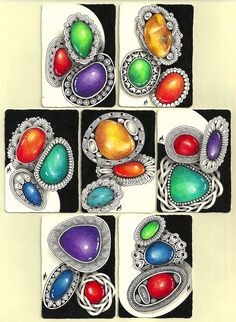 You may have seen some beautiful, colorful gems making the rounds on various Facebook zentangle sites. They're gorgeous, fun, and somewhat a...