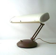 vintage desktop lamp bankers desk light swing by RecycleBuyVintage, $35.00