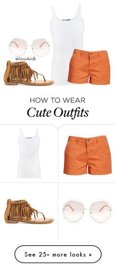"""""""Cute Summer Outfit"""" by diavianshanelle on Polyvore featuring Vince, Barbour, Not Rated, Chloé, fabulous and glamorous"""