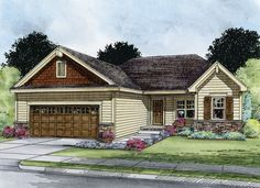 ePlans Ranch House Plan – Three Bedroom Craftsman Ranch – 1373 Square Feet and 3 Bedrooms from ePlans – House Plan Code HWEPL76352