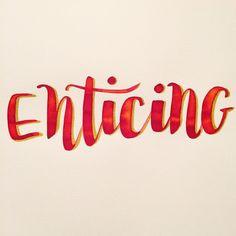 ✍🏻 enticing 💋 #happyletteringchallenge @happyletteringchallenge #enticing : : #calligraphy #calligraphie #moderncalligraphy #brushcalligraphy #brushlettering  #typography #handtype #handlettering #word #font #lettering #handlettered #handwriting #brushlettered #letteringchallenge  #dailylettering #calligraphylove #design #art #inspiration #followme #brushpen #watercolor #brushscript #handwritten #lettering #scriptlettering #calligritype #goodtype