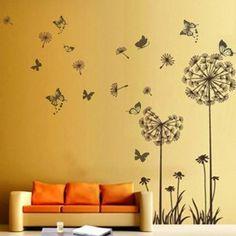 Dandelion Flowers Wall Stickers Mural Art Decor: Amazon.co.uk: Kitchen & Home Flower Wall Stickers, Wall Stickers Murals, Decoration, Art Decor, Home Decor, Dandelion Flower, Mural Art, Pvc, Wallpaper