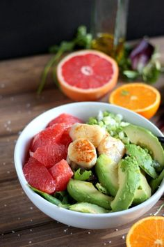 Can't get enough of this refreshing Seared Scallop Salad With Grapefruit and Avocado recipe.