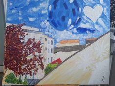 Original Landscape Painting by Martina Gasp Spring Nature, Spring Garden, Big Canvas, Canvas Art, Original Art, Original Paintings, Pencil Painting, Blooming Flowers, Medium Art