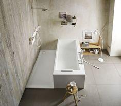 freistehende badewanne Corian rechteckig handbrause ERGO NOMIC  Rexa Design