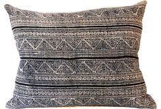 Hmong Tribal Fabric Pillow