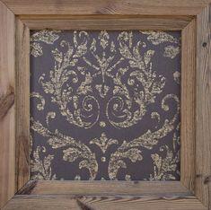 Bestell Nr. 010  Omexco Elegance Wallpaper (Gold braun)Textil Tapeten Bild mit Doppelrahmen  Grösse 650 x 650 mm   CHF. 220.00