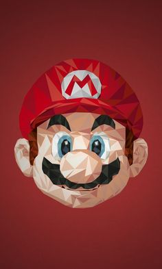 Illustrations Of Superheroes Video Game Characters Made Of Triangular Shapes - Illustration Mario Super Mario Bros, Pokemon, Video Game Art, Video Games, Mario Und Luigi, Deco Gamer, Apple Store, Triangle Art, Nerd