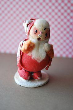Vintage 1960s Santa Xmas Decoration Putz Mica by YourMumsTrash