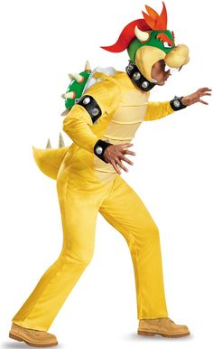 Super Mario: Deluxe Adult Bowser Costume from CostumeExpress.com