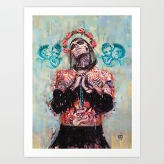 Portrait+of+Rick+Genest+aka+Zombie+Boy+Art+Print+by+Vanessa+Dakinsky+-+$19.00
