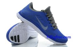 Billig Schuhe Damen Nike Free 3.0 V5 (Farbe:Vamp-blau;Sohle-weiB,innenundLogo-grau) Online Laden.