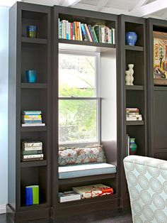 Create your own personal style with the perfect bookcase in your home. Add a bookcase to your home to increase storage and functionality. These built-in bookcases will add depth and you can display your favorite pieces on your new bookcase.