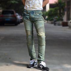 Fashion DSQ brand Men's Jeans Casual Popular Frayed denim men's ...
