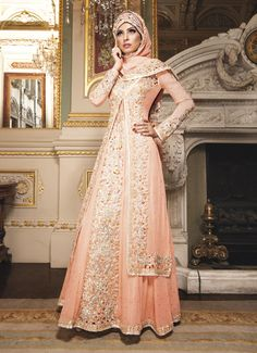 jaan-113 peach! Gorgeous design, perfect for summer! Perfect Muslim Wedding