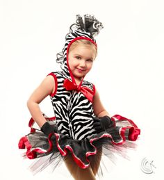 Curtain Call Costumes® - Zebra Mania Add this adorable zebra tap dance costume into your circus