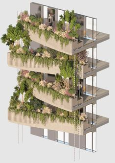 Image 12 of 26 from gallery of Vincent Callebaut Architectures Wins Public Vote for Millennial Vertical Forest Competition. Photograph by Vincent Callebaut Architectures Biophilic Architecture, Architecture Résidentielle, Futuristic Architecture, Sustainable Architecture, Sustainable Design, Contemporary Architecture, Japanese Architecture, Classical Architecture, Building Facade