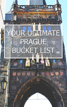 What to do in Prague - Your Ultimate Prague Bucket List on Io Torno A Vivere (adventure bucket list) European Vacation, European Travel, Vacation Spots, Places To Travel, Places To Go, Travel Destinations, Bon Plan Voyage, Prague Travel, Prague Czech Republic