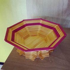 Fruteira de Mesa. (Disponível)  #palitodepicole #jeiltonbem #facavocemesmo  #DIY #artes #artesanato #palitodesorvete #eu...