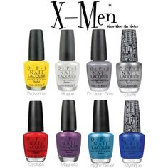 An O.P.I. nail polish line inspired by the X-Men franchise.
