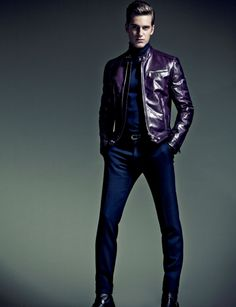 Leather will always be in style.          ...but this color may come and go.  men fashion