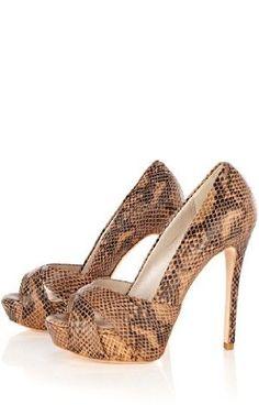 Karen Millen Snake Platform Peep : Shoes