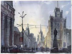Москва. Триумфальная площадь