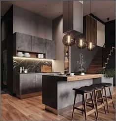 ✔62 Best of All Time Kitchen Lighting Ideas - Balancing Function And Atmosphere #kitchen #lamps #kitchenlighting #kitchendecor #homedecor   andro.com