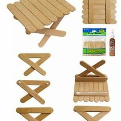 Popsicle Picnic Table (Art Projects for Kids) My love affair with popsicle sticks continues. This time I've found a way to use the mini sticks to make a picnic table. The best news? No cutting! Just stock up on these mini sticks and little Aleene Popsicle Stick Houses, Popsicle Crafts, Craft Stick Crafts, Wood Crafts, Fun Crafts, Arts And Crafts, Craft Sticks, Mini Craft, Resin Crafts