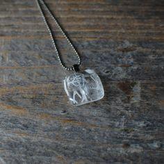 Belvedere Vodka Pendant Necklace // Upcycled Glass Bottle on Etsy, $22.00