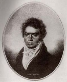 Lugwig van Beethoven ( 1770 - 1827) original painting. Born in Bonn, Germany. Check out his Moorish/Asiatic (so-called black) features.