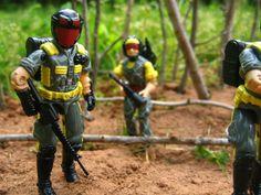 "A Python Patrol Viper and Tele-Viper, from Hasbro's ""G.I.Joe"""