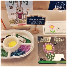 Spring Provocation - Invitation to Create and Write: Can You Make a Spring Picture? {FREE Printable}