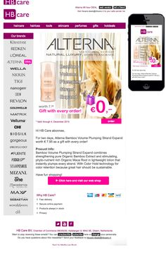 For 2 days, Alterna Bamboo Volume Plumping Strand Expand worth € 7.95 as a gift with every order!