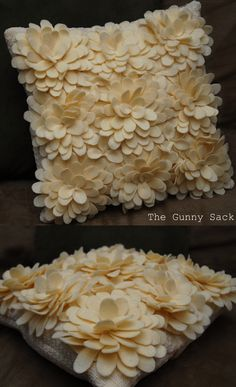 DIY Knockoff Delancey Felt Petal Pillow Cases