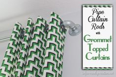 How to make your own grommet curtains and pipe curtain rods