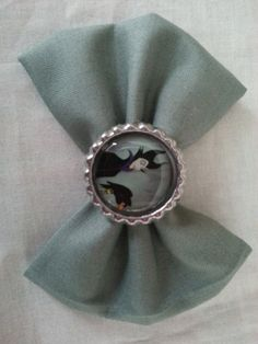 Malificent Hair Bows Sleeping Beauty Evil by CaliAnnsCreations, $6.00