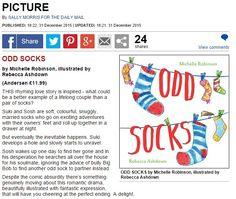Mail Online review for Odd Socks by Michelle Robinson (illustrated by Rebecca Ashdown) - so good I had to screengrab it!  http://www.dailymail.co.uk/home/books/article-3380516/PICTURE.html