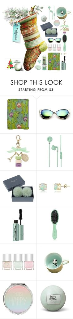 """""""#PolyPresents: Stocking Stuffers"""" by onenakedewe ❤ liked on Polyvore featuring Ladurée, Urbanears, Glitzy Rocks, Too Faced Cosmetics, Harry Josh Pro Tools, Nails Inc., contestentry, polyPresents, christmasstocking and inexpensivegifts"""