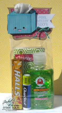 Get well soon mini care package for the chronically adorable.