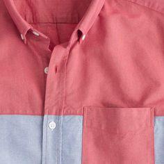 Short-sleeve pieced vintage oxford shirt : warm weather | J.Crew