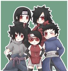 Uchiha! Itachi, Madara, Sasuke, Sarada, Obito