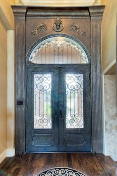 Superior French Country Entry, Fabulous Door Glass And Metal? Or Paint Treatment  Wood. French