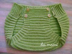 House mami: panties / slap diaper for baby Newborn Crochet, Crochet Baby Hats, Baby Knitting, Crochet Bebe, Crochet For Kids, Knit Crochet, Bebe Baby, Diaper Covers, Crochet Stitches
