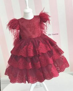 Baby Girl Frocks, Frocks For Girls, Little Dresses, Little Girl Dresses, Flower Girl Dress Shoes, Baby Dress, Mom Daughter Matching Dresses, Dress Anak, Princess Dress Kids