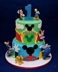 Mickey Mouse Clubhouse & Mickey Park Cake - - Cake in Cup NY Bolo Do Mickey Mouse, Mickey Mouse Birthday Cake, Mickey Mouse Cupcakes, Mickey Mouse Clubhouse Birthday Party, Mickey Cakes, Mickey Mouse Parties, Disney Parties, 2nd Birthday, Birthday Ideas