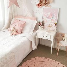 Looking for the perfect theme for your little girl room? Get inspired by our selection of popular decor ideas for your baby girl nursery and little girl bedroom. Little Girl Bedrooms, Teen Girl Rooms, Girls Bedroom, Bedroom Decor, Bedroom Ideas, Kids Rooms, Room Girls, Teen Bedrooms, Shared Bedrooms