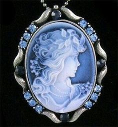 #Blue #Cameo #Necklace #Pendant #jewellery