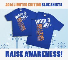 I have this shirt.October is National Bullying Prevention Awareness Month and to signify its importance, STOMP Out Bullying™ created BLUE SHIRT DAY® WORLD DAY OF BULLYING PREVENTION! Join us & GO BLUE on 10.06.14. Order your 2014 Limited Edition Shirt Today: October is National Bullying Prevention Awareness Month and to signify its importance, STOMP Out Bullying™ created BLUE SHIRT DAY® WORLD DAY OF BULLYING PREVENTION! Join us & GO BLUE on 10.06.14. Order your 2014 Limited Edition Shirt…